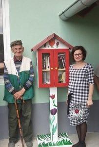 Najstariji stanovnik Kladavca ima 85 godina i obećao je pročitati barem jednu knjigu iz kućice-knjižnice.