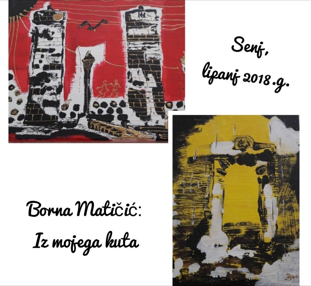 """OTVORENA MATURANTSKA IZLOŽBA-BORNA MATIČIĆ-""""IZ MOJEGA KUTA"""""""