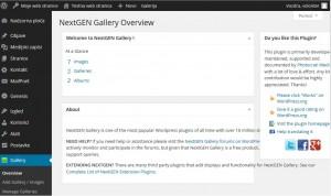 Zaslon NextGEN Gallery