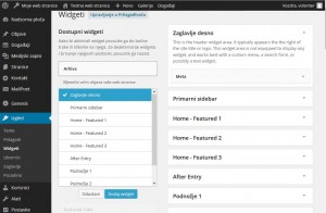 Print Screen zaslona za uređivanje widgeta
