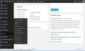 Yoast WordPress SEO izbornik