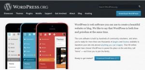 PrintScreen početne stranice WordPress.org
