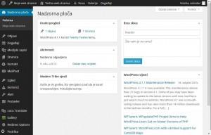 WordPress nadzorna ploča