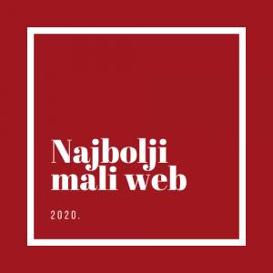 Digitalni bedz Najbolji mali web 2020. godine